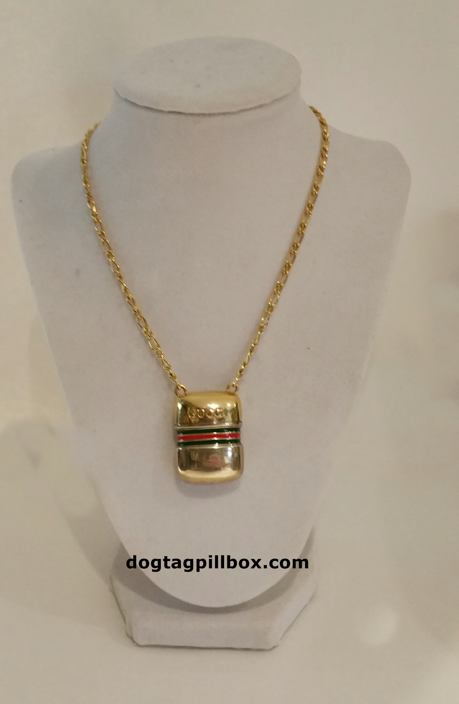 Vintage gucci pill box necklace aloadofball Gallery